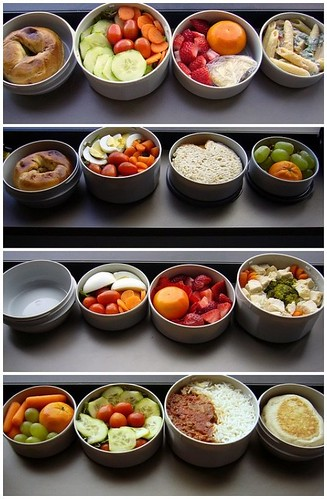 Four Bento Lunches
