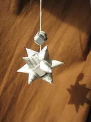 light and shadow (ccyytt) Tags: white paper star recycled handmade craft strip papercraft