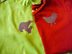 Kids' freezer paper t-shirts