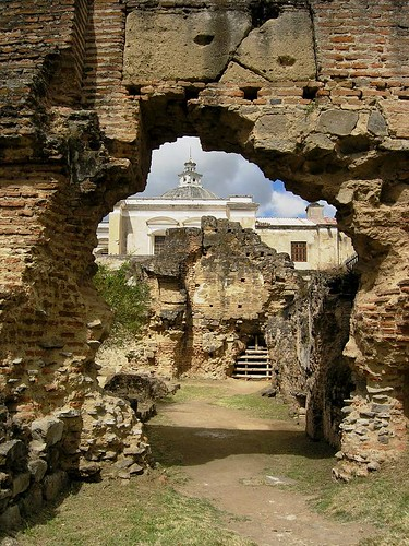 the San Francisco ruins in Antigua, Guatemala
