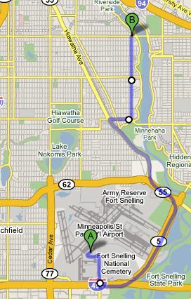 Actual Route Taken: 9.3 Miles