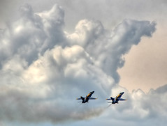 Angels in the Clouds (` Toshio ') Tags: light clouds plane jets navy fast maryland annapolis academy blueangels hdr pilot navalacademy toshio mywinners aplusphoto