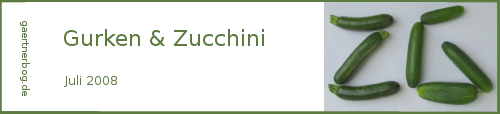 Garten-Koch-Event Juli 2008: Gurken und Zucchini