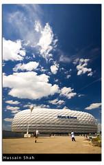 Allianz Arena (Hussain Shah.) Tags: d50 germany munich bayern nikon arena 1020mm polarizer shah signa staduim hussain allianz aplusphoto