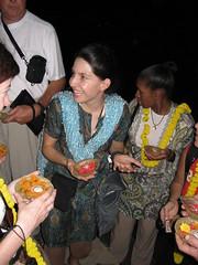 Gina - 1st night at Assi Ghat Varanasi