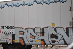 Reken (nunya...nunyabusiness) Tags: art train graffiti pinky spraypaint bnsf reken