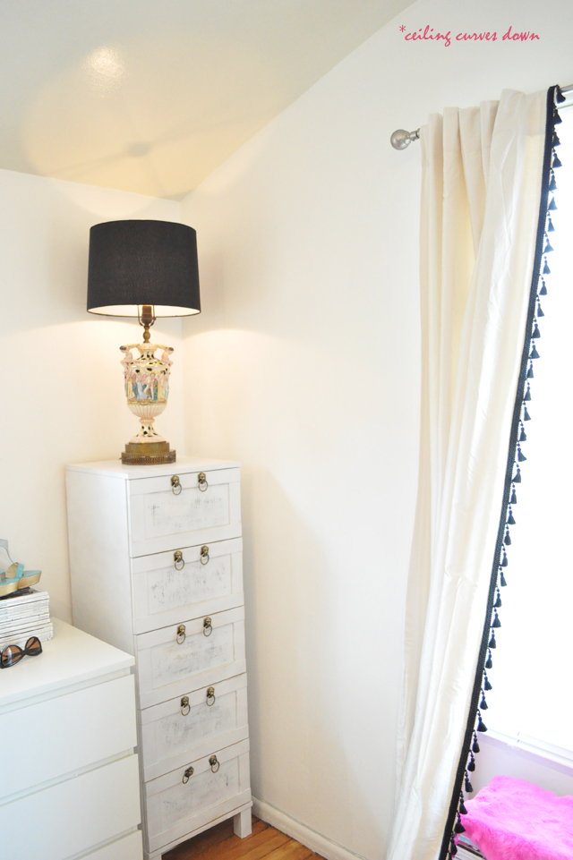 ikea hack dresser and vintage  capodimonte lamp