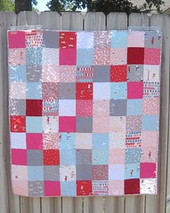 Sherbet Pips baby quilt front