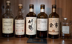 My Whisky Collection (Mike.Trent) Tags: paris japan scotland singapore 1987 whisky scotch 42 59 52 malt yoichi nikka lamaisonduwhisky balvanie nikkasinglecaskmaltwhisky1987 thebalvaniedoublewood12year thebalvaniecubanselection14year nikka17yearpuremalt nikkayoichi15year nikkawhisyfromthebarrel