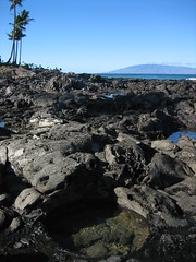Lava rocks and Lana'i (unit2345) Tags: hawaii honeymoon maui napili