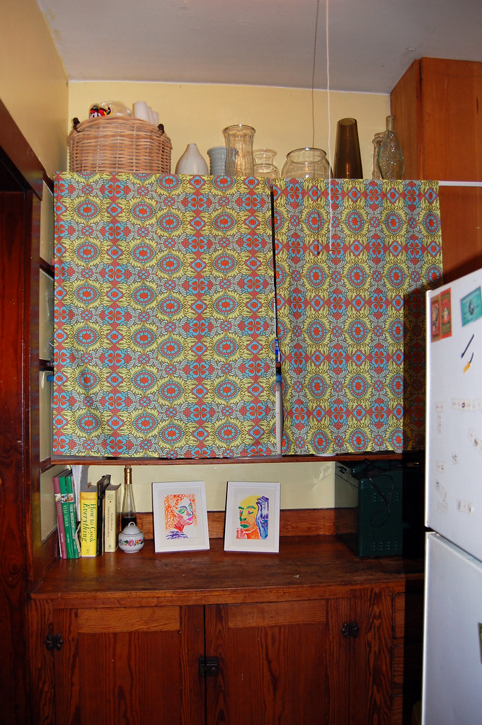 new pantry curtains and artwork!