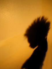 Mohawk in Silhouette (blonde_sage) Tags: shadow silhouette mowhawk brillianteyejewel cmwdorange