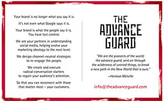 The Advance Guard Postcard - Back