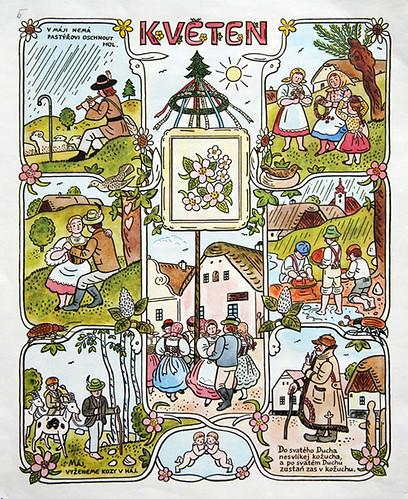 Josef Lada Calendar: May