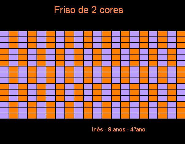 Inês friso de 2 cores