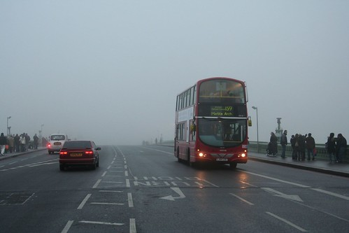 London - Westminster Bridge in the fog 2