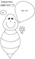abelhas o animal preferido da Mzinha! (Monte de Linhas) Tags: feltro moldes tralhasemoldes