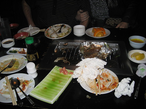 korean bbq aftermath