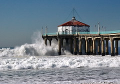 Huge surf, refixed (jakerome) Tags: ocean california deleteme pier surf waves saveme deleteme10 pacificocean manhattanbeach breaking breakingwave getset roundhouse manhattanbeachpier jakepix fave5 dmushow top20la photoshoppedbyseraphimc sombw wavebreakingoverpier wpwide mbportfolio