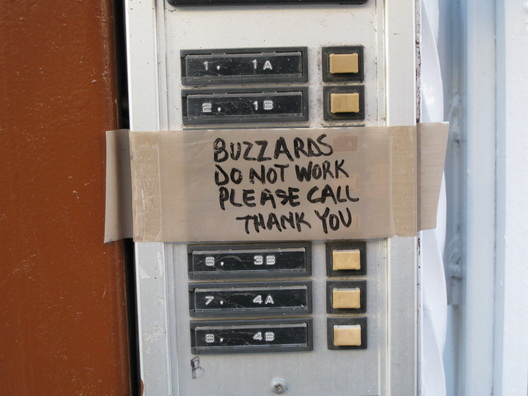 Buzzards Do Not Work