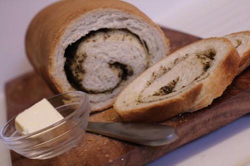 Pesto Whirl Bread
