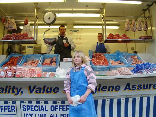 wakefield market meat stall