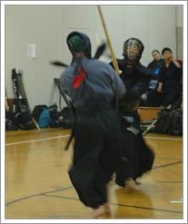 Charlie Kondek partaking in Kendo. by whatsthediffblog, on Flickr