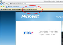 flickr's new activex control