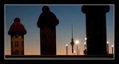silhouettes (renee.hawk) Tags: city berlin germany hauptbahnhof nighthawk centralstation