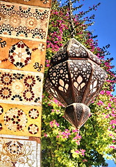 Azem Palace (hazy jenius) Tags: door flowers art architecture garden design colorful muslim islam middleeast courtyard tiles syria lantern archway damascus oldcity cham asham azempalace dimashq