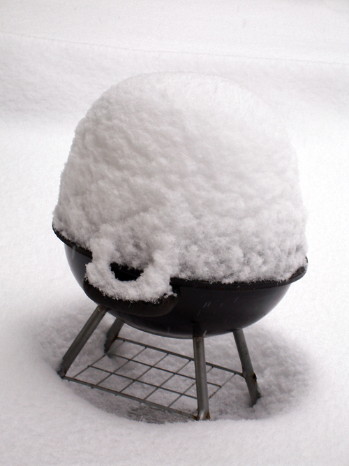 snow on the grill