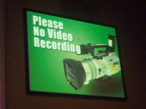 No Recording