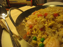 Supper in my hotel room - Hoi Yat Fried Rice