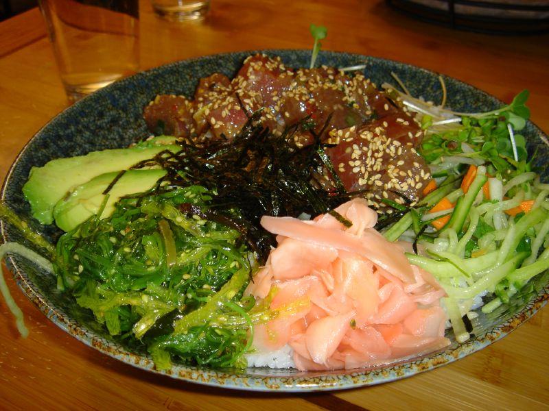 Ahi Poke Wasabi Bowl