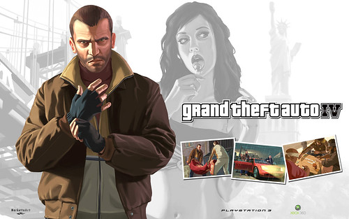"""GTA IV"" Artwork por Marcos Kontze."