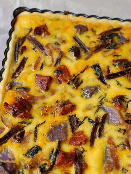 catalogna and chicory tart