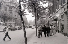 Southampton Row, London, 2 August 1955 (allhails) Tags: london clock aldwych holborn kingsway londonplane bushhouse southamptonrow bx15 lyonscornerhouse