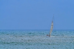 En mar abierto (Fnikos) Tags: boat sailboat vehicle sea seascape water wind sky skyline mediterranean people outdoor