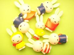 Kawaii Japanese Miffy Craft Stuff Accessories Phone Charm Mascot Plastic Mini Doll Cute Rare Japan