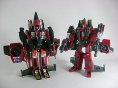 Transformers Thrust Classic Henkei vs G1 - mod robot