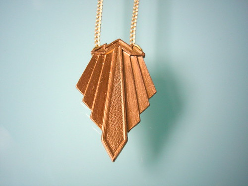 Vintage Art Deco Dress Clip Repurposed Into Pendant