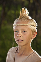 Riley #3 (Gailon) Tags: boy male nature boys eyes child human blond mohawk indians tween