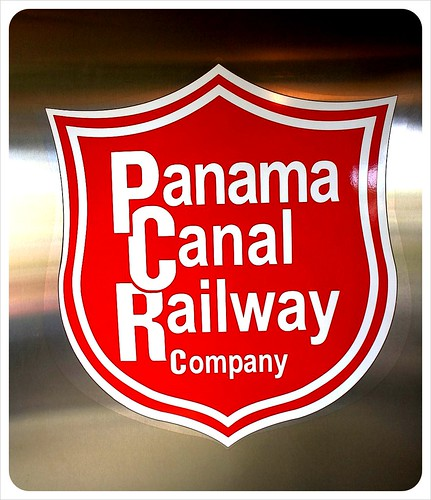 Panama Canal railway company sign