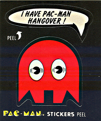 "Fleer ""PAC-MAN"" Sticker NO.15 of 54 'Shadow the Next Morning' ((1980))"