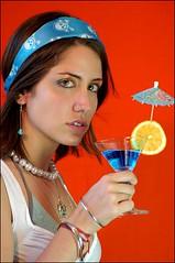 models Cix (by_crystaline) Tags: blue make up drink laranja curaao coroa dado cix faixa prolas