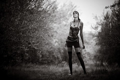 (Karl's) Tags: fashion punk dof dramatic onlocation heavymakeup monochromia 7fttall