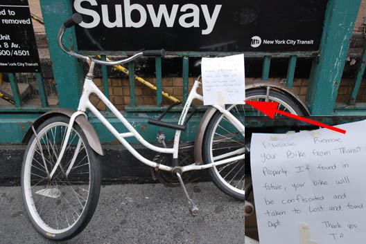 Bike and Note
