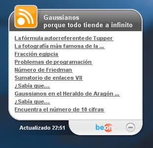 Widget de Gaussianos