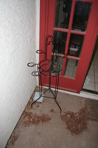 patio corner, before