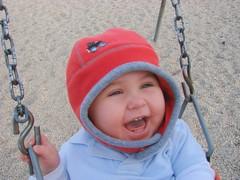 swinging is his favorite